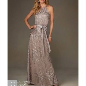 Champagne Dress with Sequin pattern